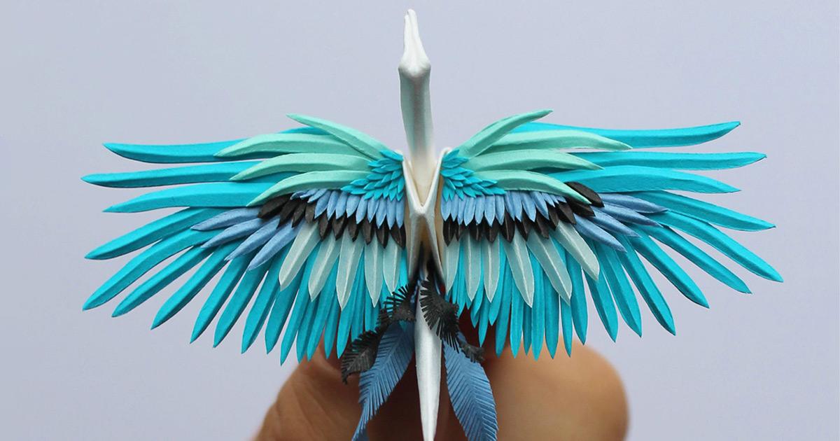 Elegant Paper Cranes